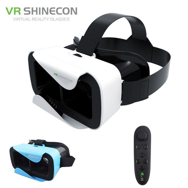 1fcbea1226e0 VR Shinecon 3.0 3D Headset Google Glass Cardboard 360 Virtual Reality  Glasses Head Mount vr box Helmet for 4.5-6  Phone