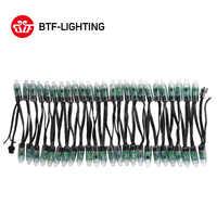 WS2811 DC 5 v/12 v 12mm WS2811 Led-modul, schwarz/Grün/Weiß/RWB Draht, IP68 wasserdichte Pixel string Weihnachten licht