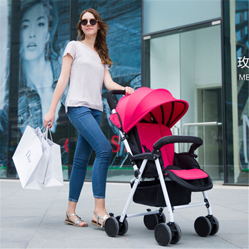 European baby strollers Deluxe High Landscape Portable Carriage Ultralight Pushchair Folding Pram with 8 EVA Wheels kinderwagen sandisk cruzer glide cz60 usb 2 0 flash disk drive memory stick black red 64gb