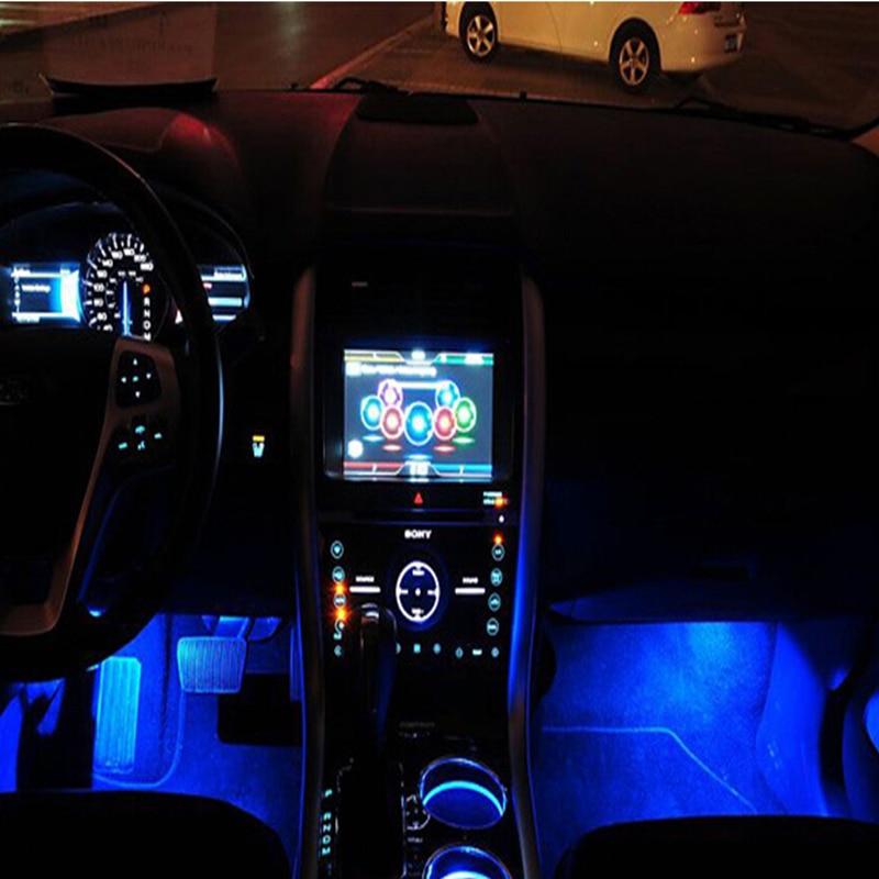 Blaue LED Auto gebühren Glow Interior Dekorative Lampe Neon lichter ...