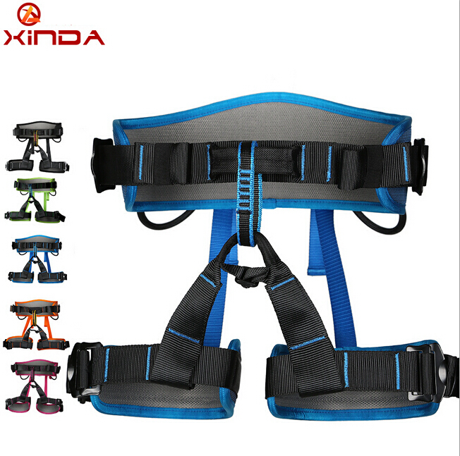 XINDA Professional Half Body Safety Belt Harnesses For Rock Climbing Outdoor Expand Training Aerial  Protective Supplies xinda professional handle pulley roller gear outdoor rock climbing tyrolean traverse crossing weight carriage device