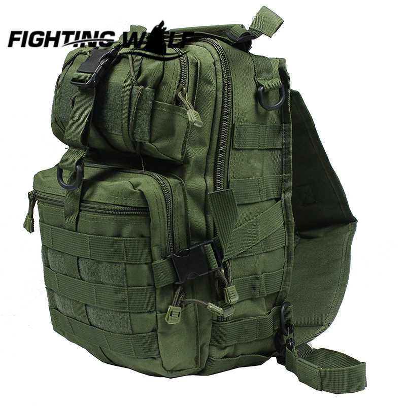 ФОТО Tactical Chest Sling Pack Outdoor Sport Waterproof Durable Single Shoulder Man Big Large Molle Backpack Hunting Waist Bags