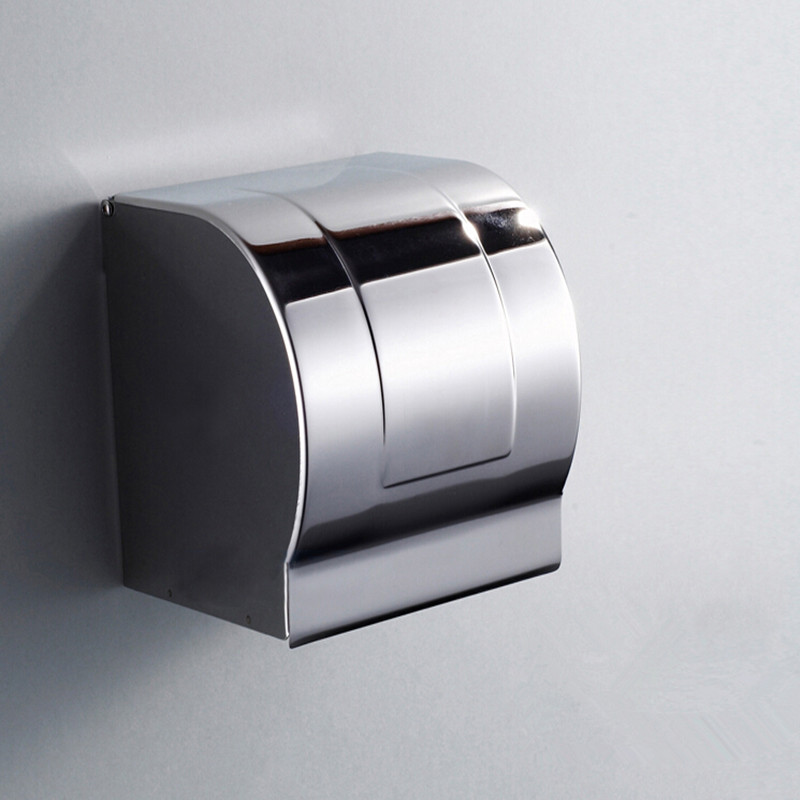 Stainless steel 304 bathroom paper with shelf towel rack toilet holder tissue boxes