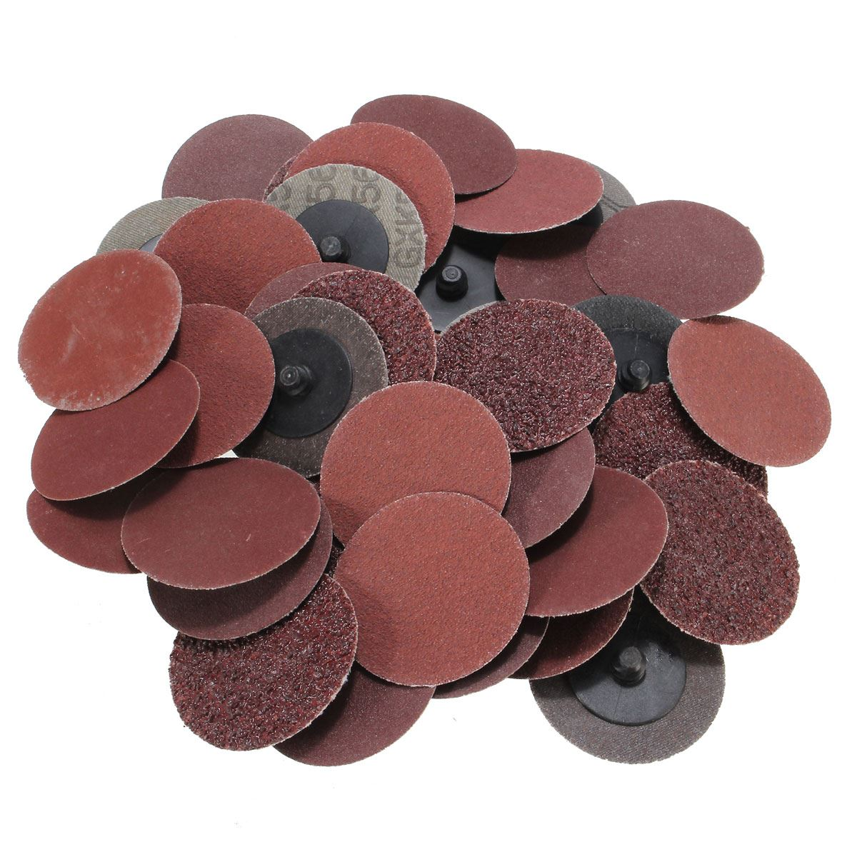 40pcs Set 2 Roll Lock Sanding Discs 36 80 180 240 Grit Mix Type R Fits For Dremel Cleaning And Polishing Best Price
