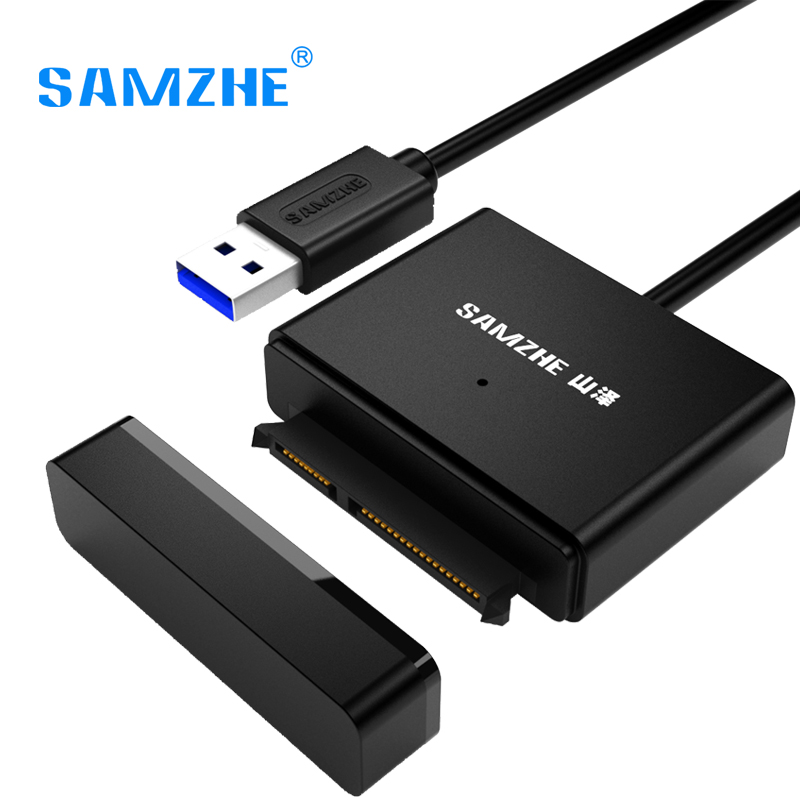 SAMZHE USB 3.0 AM To SATA Adapter for 2.53.5 SATA Drives External Hard Drive Cable USB SATA Adapter UASP Second HDD high quality 1pc usb 3 0 to 2 5in sata 3 hard drive adapter cable w uasp for ssd hdd