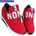 Мода высота увеличение женщины повседневная обувь девушки дамы теннис тренеры марка ботинки женщин бренд обуви chaussures 216 т