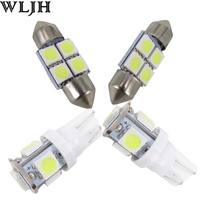 White Led 31mm DE3175 T10 W5W Light Bulb For Dome Map Licence Plate Light Package Kit