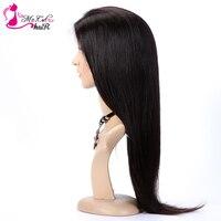 MS Cat волосы прямые Синтетические волосы на кружеве человеческих волос парики для Для женщин бразильский Реми Синтетические волосы на круже