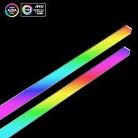 AURA-tira de luces LED Multicolor para el chasis, luz de respiración de aluminio de 12V/4 pines con RGB magnético, lámpara de ambiente de Color contra la contaminación