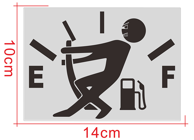 1 Pcs Funny Car Sticker Pull Fuel Tank Pointer To Full Hellaflush Reflective Vinyl Car Sticker Decal Wholesale Car styling in Car Stickers from Automobiles Motorcycles