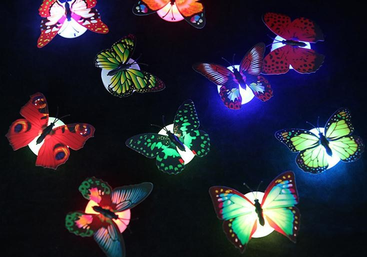 Color Changing Butterfly Night LED Lighting Lights Lamp Christmas - Butterfly lights for bedroom