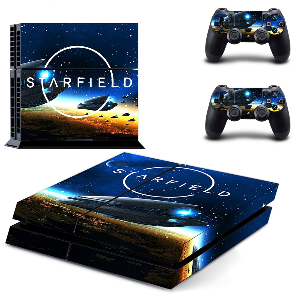 Game Starfield PS4 Skin Sticker Decal for Sony PlayStation 4 Console and 2 Controller Skin PS4 Sticker Vinyl Accessory