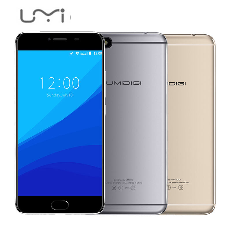 Original Umidigi C Note Mobile Phones MT6737T Quad Core 32G ROM 3G RAM 5 5 Inch
