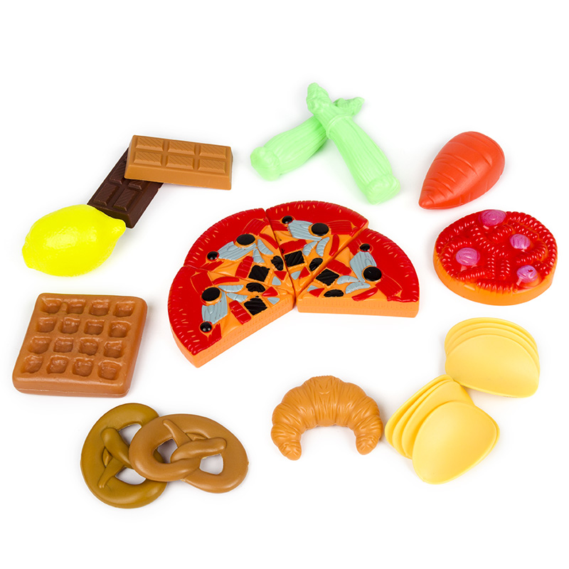 Image 2 - 140Pcs Kids Cutting Fruits Vegetables Pretend Play Kitchen Toys Miniature Safety Food Sets Educational Classic Toy for Children-in Kitchen Toys from Toys & Hobbies