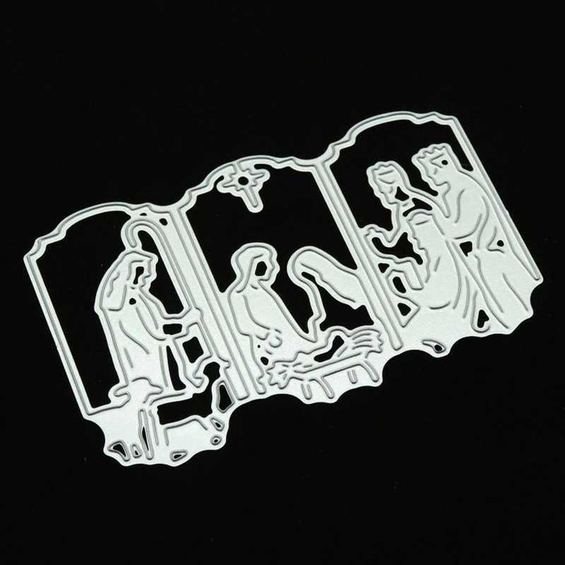 Jesus Morre Novo 2018 Selos de Artesanato De Corte De Metal Cortado Gravação Cartão Fazendo Quadro Stencil