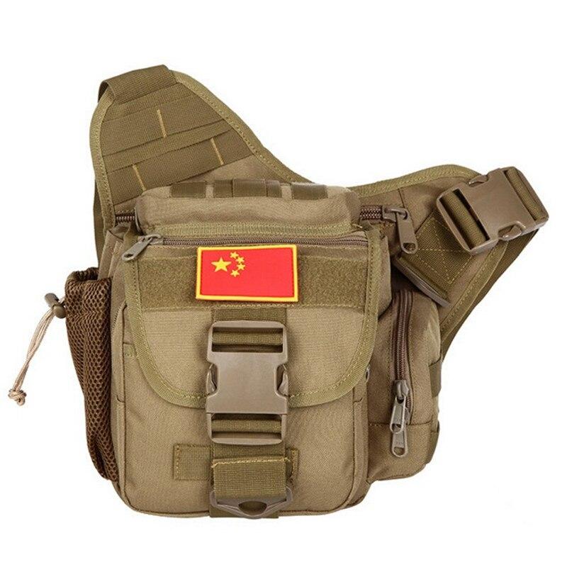 ФОТО Green Camo Chest Bag Molle One Single Shoulder Bag Men Women Medium Big Travel Bag Pack Equipment Crossbody Sling Chest Pack