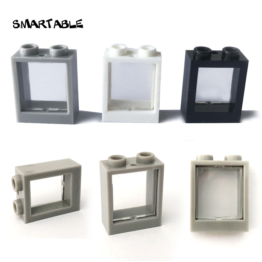 Оконная рама Smartable 1x2x2 со стеклянными деталями, строительные блоки, игрушки «сделай сам» для детей, совместимы со всеми брендами 60592 + 86209, гор...