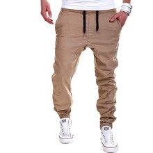 Бегуном бегунов штаны твердые повседневная марка мужской мужские брюки мужчины