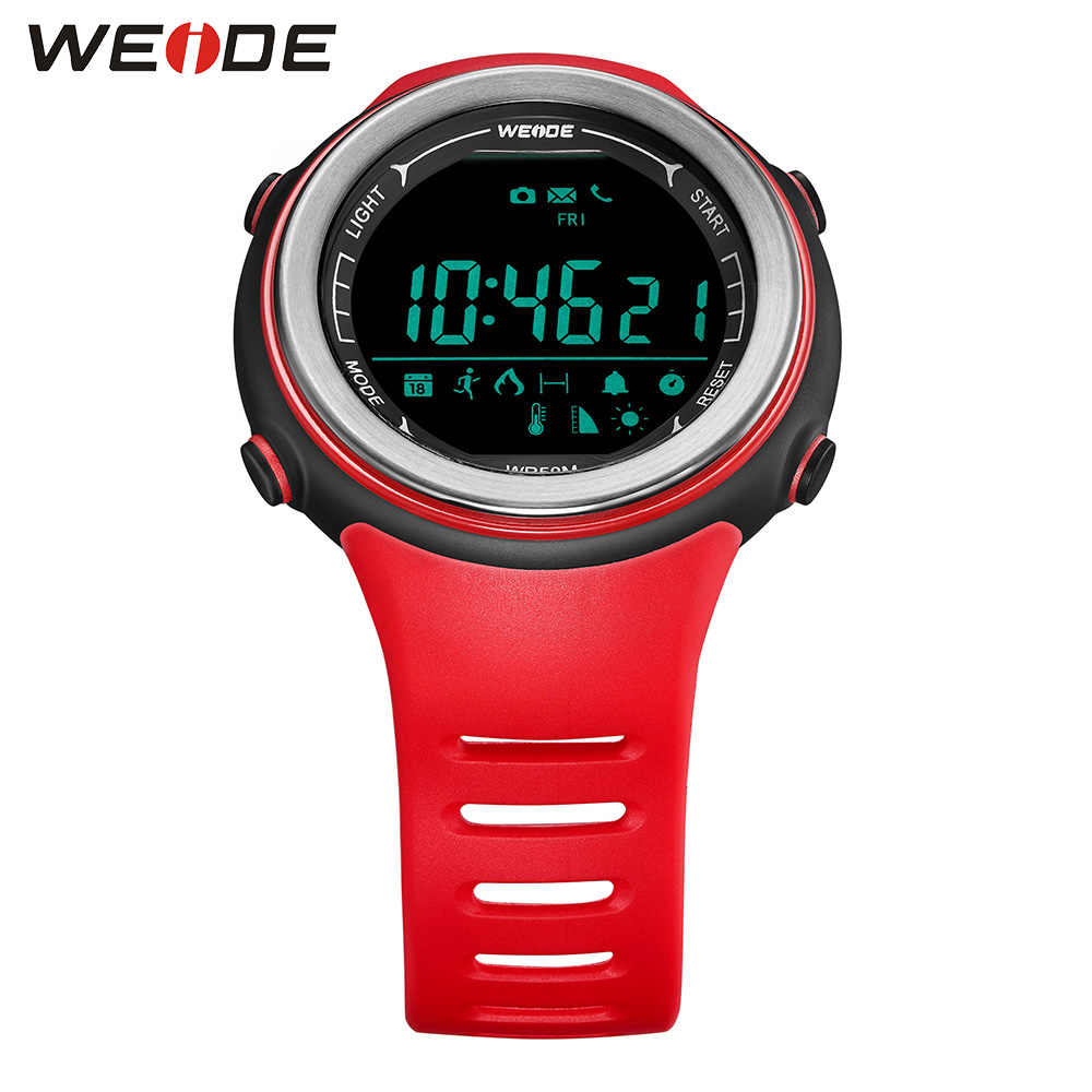WEIDE ספורט חכם שעון LCD דיגיטלי מונה Bluetooth חום שיעור צג 50 בר מהדר מכשירים אלקטרוניים עבור IOS אנדרואיד
