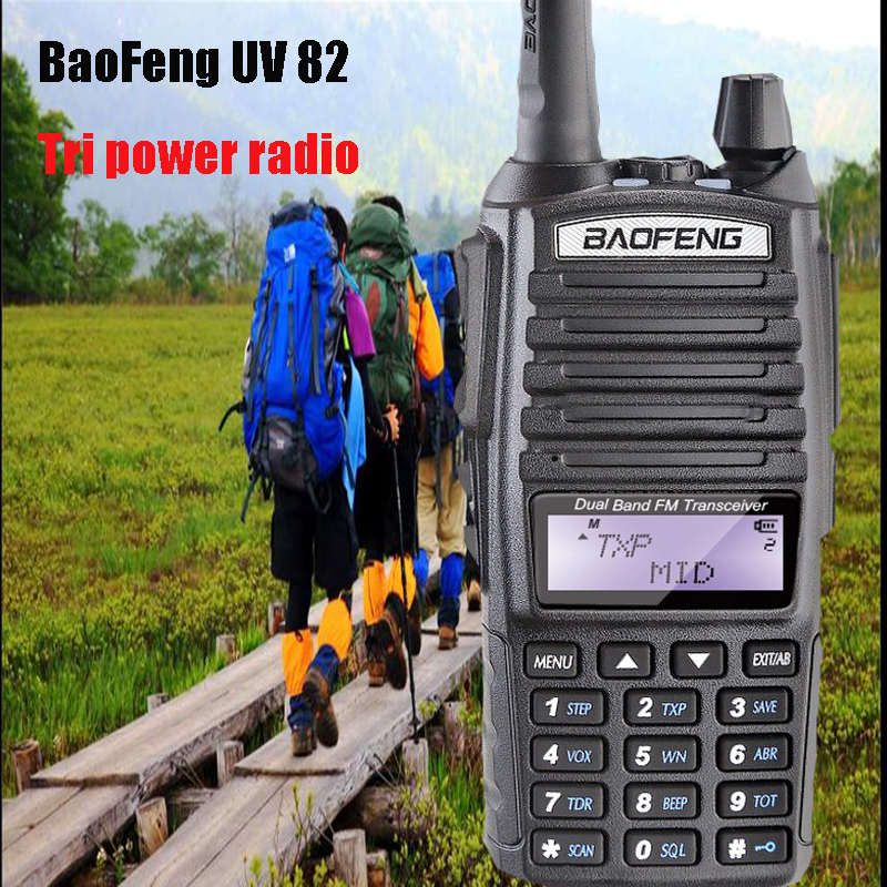 Baofeng UV-82 8W Powerful Portable Radio Walk Talk Tri power 2800mAh battery dual PTT Baofeng UV82 bf-a58 uv5r uv-6rBaofeng UV-82 8W Powerful Portable Radio Walk Talk Tri power 2800mAh battery dual PTT Baofeng UV82 bf-a58 uv5r uv-6r