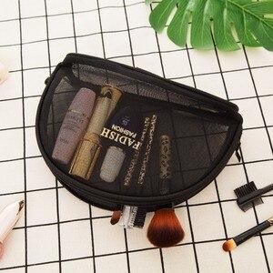 Image 4 - 簡潔なトイレクリスタル黒ピンクグリッド化粧品オーガナイザーミニサイズトランペッターポータブル旅行バッグパッケージ受け入れる