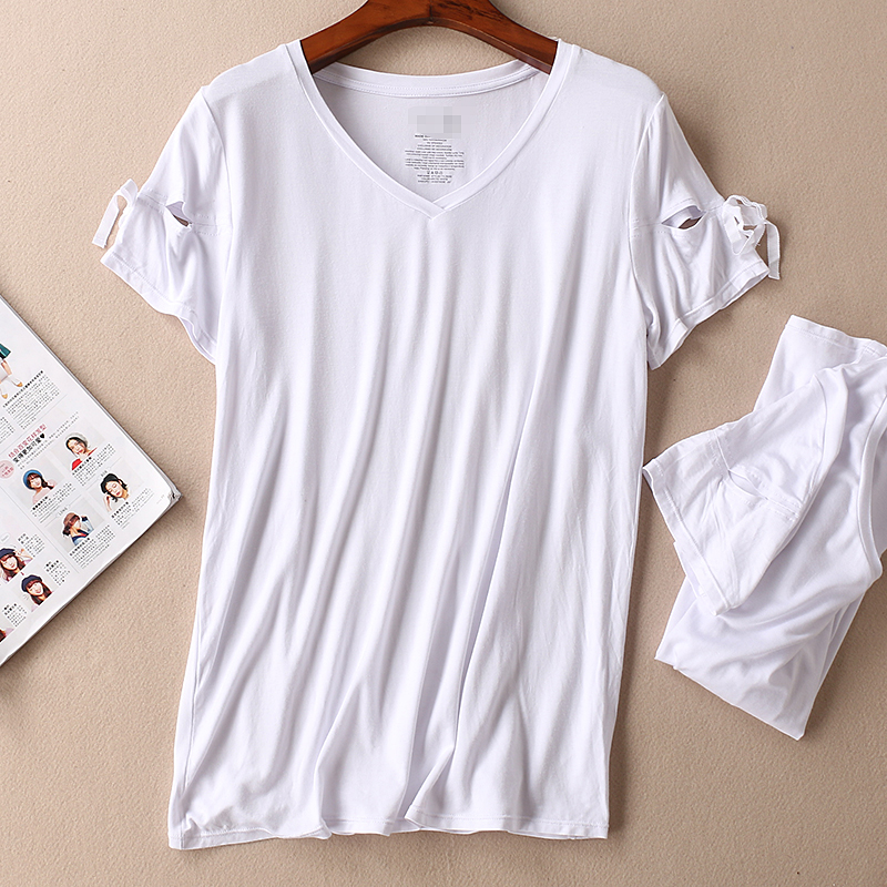 Women Wear Summer Simple White Collar Skin Short Sleeve Shirt Straight Tube Large Size Shoulder Semi Solid Color Shirts For Wome