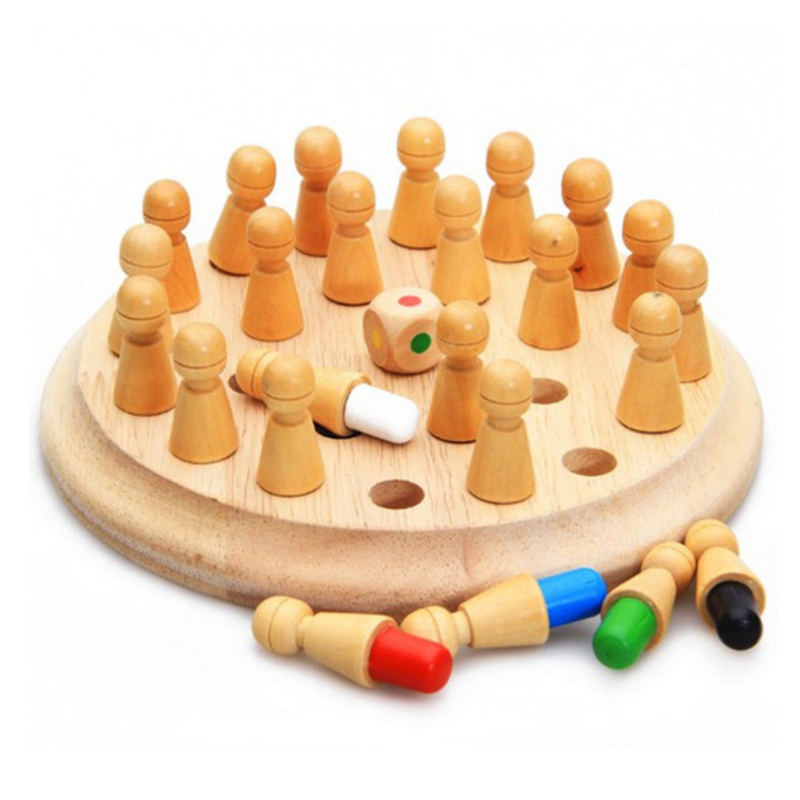 Montessori Kids Toy Baby Wooden Memory Developing Compete Chess Learning Educational Preschool Training Brinquedos Juguets Toy