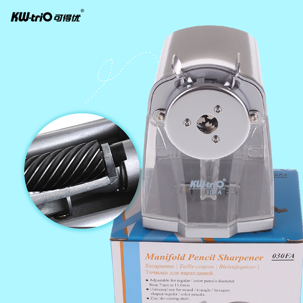 Image 5 - Manual Pencil Sharpener Handheld Operation Transparent Receptacle Helical Cutter Stationary for School Office Home-in Pencil Sharpeners from Office & School Supplies