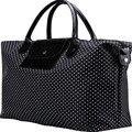 De alta Capacidad Plegable Dot Bolsas de Viaje Bolsa de Viaje Del Equipaje Del Bolso de Las Mujeres Nueva Moda de Luz Nylon Duffle Bag Bolso de Marca X063