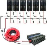 Большой DE стиль Полный комплект: 960 Вт 6*160 Вт моно солнечные панели системы с 1000 Вт 12 В/230 В сетевой инвертор