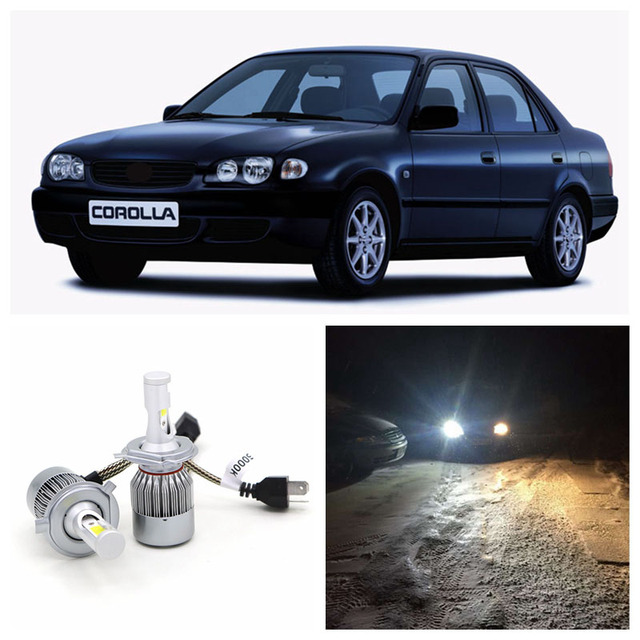 Edislight 72w 7600lm Led Headlight Kit H4 Hi Lo Beam Bulbs For 1998 1999 2000 Toyota