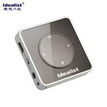 Idealista 100% Ultrafina Original de 4 GB MP3 Usb Reproductor de MP3 De La Marca reproductor Portátil de Música Del Deporte Mini Reproductor de MP3 con Brazalete y Lanyard