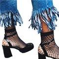 Черный Chic Ажурные Носки Женщины Harajuku Гот Панк Серии Cool ажурные Короткие Носки Женщины Выдалбливают Sexy Кружева Лодыжки Носок дамы