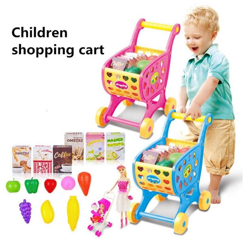 Shopping Carts Fruit Vegetable Pretend Play Children Kid Educational Toy supermarket cash
