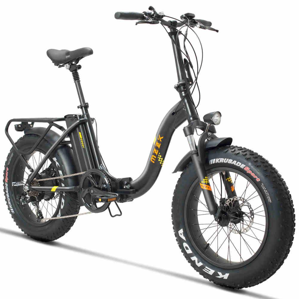 20 polegada neve e moto-48V500w elétrica bicicleta 4.0 pneus de gordura dobrar bateria de lítio bicicleta de montanha elétrica 624wh Praia lazer emotor