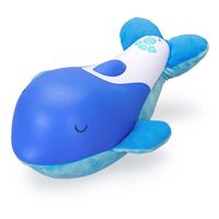 Baby Sleeping Toys Little Dolphin Doll Stuffed Animal Plush Comfort Toy With Sound Light Early Education Gifts for Kids Children