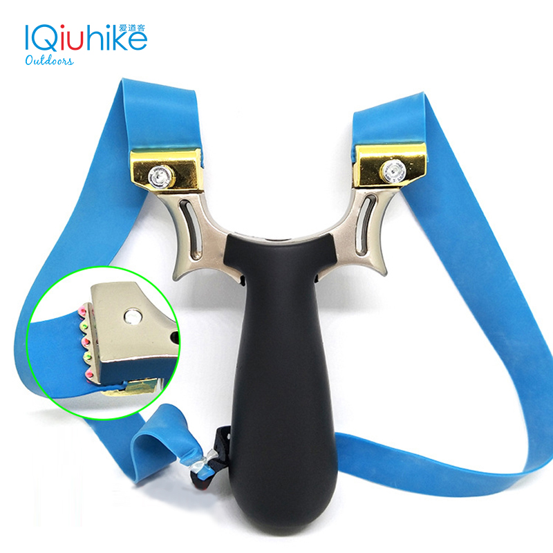 IQiuhike Professional Powerful Zinc Alloy Multiple Sight Systems+light Slingshot For Hunting Shooting Slingshot Catapult
