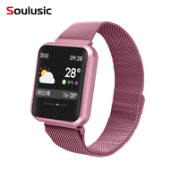 IP68 Astuto Della Vigilanza P68 Bracciale Fitness Activity Tracker Monitor di Frequenza Cardiaca Smartwatch per iPhone Android PK iwo 8 w54 orologio