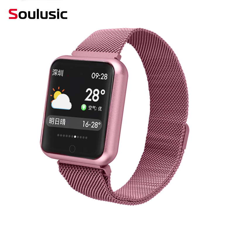 IP68 Smart Watch P68 Fitness Bracelet Activity Tracker Heart Rate Monitor <font><b>Smartwatch</b></font> for iPhone Android PK iwo 8 w54 watch image