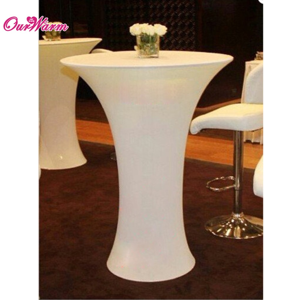 Attrayant OurWarm Lycra Cocktail Table Cover Spandex Tablecloth 4 Sizes 3 Colors  Stretch Bar Bistro Wedding Decorations In Tablecloths From Home U0026 Garden On  ...
