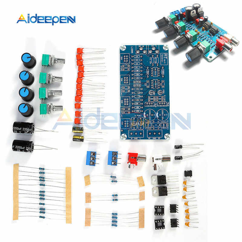NE5532 HI FI Penguat Filter Preamplifier Papan DIY Kit AC Double 15V 3P Terminal Output Audio Control Board Selesai produk