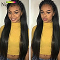 Nicelight Hair Company Peruvian Virgin Hair Straight 100% Human Hair Weaving Puruvian Straight Hair 3 Bundles Cheveux Tissage