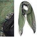 Good Deal New Fashion Spring Women Soft Long Scarf Shawl Fresh green printing Scarves Shawl Gift 1PC