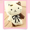 3D Cartoon Brand Fabitoo Gentle Cat Soft Protector Phone Case For Huawei Ascend P8 Lite P7 Honor 7 6 4C Cute Silicone Back Cover