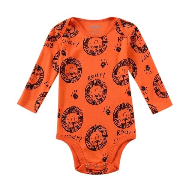 0 - 18 meses de bebê menina Bodysuits manga longa 100% algodão recém-nascido corpos One - pieces Tops Babies Roupas macacão para meninos