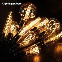 Диммер изогнутый светодиодный лампа Эдисона лампа светодиодный свет накаливания Винтаж светодиодный светильник гигантский edison лампа мягк...