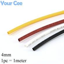 1 шт. 1 метр 4 мм 2:1 термоусадочные трубки термоусадочные рукава элемент изоляции Провода кабель rsfr-h Изоляционные материалы и элементы