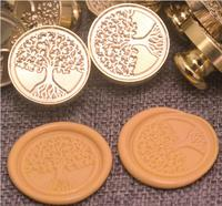 Vintage Tree Of Life Custom Picture Logo Luxury Wax Seal Sealing Stamp Brass Peacock Metal Handle