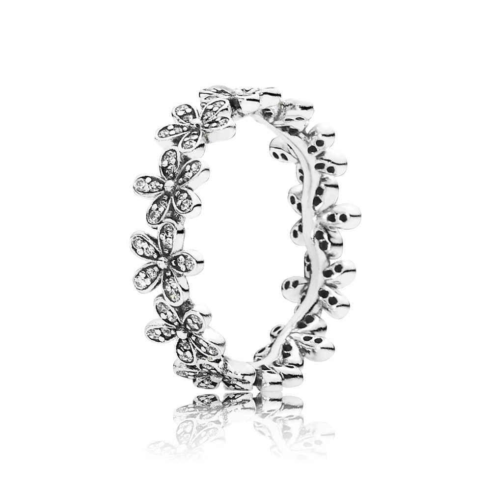 25 สไตล์แฟชั่นมาถึง 925 เงินสเตอร์ลิงแหวน Charms 6 สี Oil Pearl Diy คริสตัลแหวนผู้หญิงเครื่องประดับ