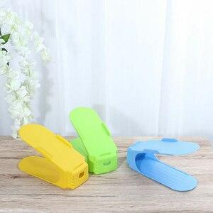 Image 4 - 8pcs כפול נעל ארגונית מודרני נעלי נעל מדף אחסון ניקוי ארון נעלי מארגני נוח Rangement Stand מדף